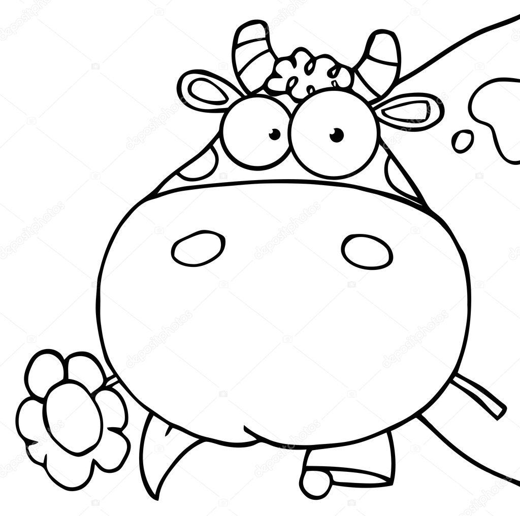 cute cow outline more information kopihijau