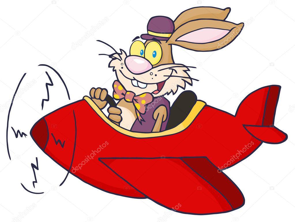 卡通红色飞机图片素材