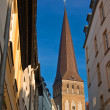View to the Petrikirche - Stock Photo