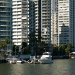 Stock Photo: Apartment Buildings on Waterway