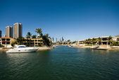 Waterway Scene, Surfers Paradise, Australia — Stock Photo