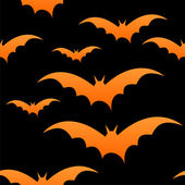 Orange bats on black, eps 10 — Stockvector