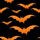 Oranžové netopýři na černou, eps 10 — Stock vektor