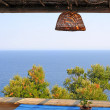Balcony overlooking Adriatic Sea - Stockfoto