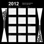 Calendar 2012 — Stock Vector #7628310