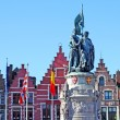 Statue of JBreydel and Pieter De Coninck, Bruges — Stock Photo #7718432