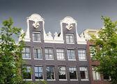 Dutch gable house, Amsterdam — Stock Photo