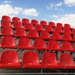 Royalty-Free Stock Photo: Red stadium seats