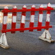 Small road barrier — Stock Photo