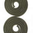 Two paralel spirals from rope. — Stockfoto
