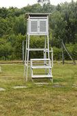 Viejo contenedor blanco de medición — Foto de Stock