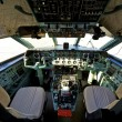 Stock Photo: Pilot cockpit