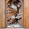 Wooden door, Gothic style, Florence. — Stock Photo #7436423