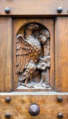 Wooden door, Gothic style, Florence. — Stock Photo