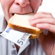 That you can place in a sandwich - your money. — Stock Photo