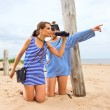 Girls on a beach. — Stock Photo #7896469