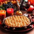 Apple pie for Thanksgiving — Stock Photo