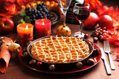 Apple pie for Thanksgiving — Stok fotoğraf