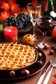 Apple pie for Thanksgiving — Stockfoto