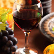 Glass of red wine for Thanksgiving - Stock Photo