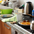 Dirty kitchen - Stockfoto