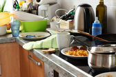Dirty kitchen — Stockfoto
