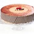 Tiramisu birthday cake - Stock Photo
