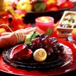 Foto Stock: Place setting for Thanksgiving