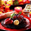 Stock Photo: Place setting for Thanksgiving