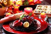 Place setting for Thanksgiving — Стоковое фото
