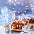 Luxury place setting for Christmas — Foto Stock