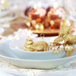 Luxury place setting for Christmas — Stock Photo #7127354