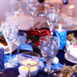 Christmas place setting - Stock fotografie