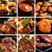 Piatti di carne — Foto Stock