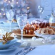 Luxury place setting for Christmas — 图库照片