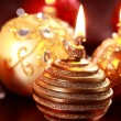 Christmas candle — Stock Photo #7620712