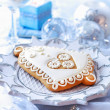 Gingerbread bell for Christmas - Lizenzfreies Foto