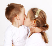Giving a kiss — Stock Photo