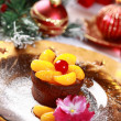Stock Photo: Chocolate Cup Cake for Christmas