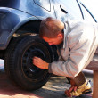 Stock Photo: Wheel changing