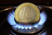 燃烧的欧元 — 图库照片