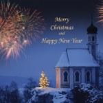 Neujahr und Weihnachtskarte — Stockfoto