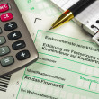 German tax form - Stock Photo