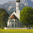 Church st. coloman in upper bavaria, germany — Stock Photo