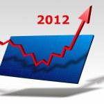 Chart 2012 — Stock Photo