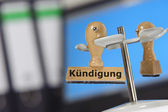 Dismissal - Kuendigung — Stock Photo