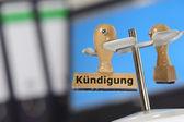 Dismissal - Kuendigung — Stock Photo