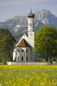 Church st. coloman in upper bavaria, germany — Stok fotoğraf