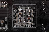 Electronic printed circuit — Stock Photo