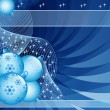 Blue christmas balls abstract - Stock Vector